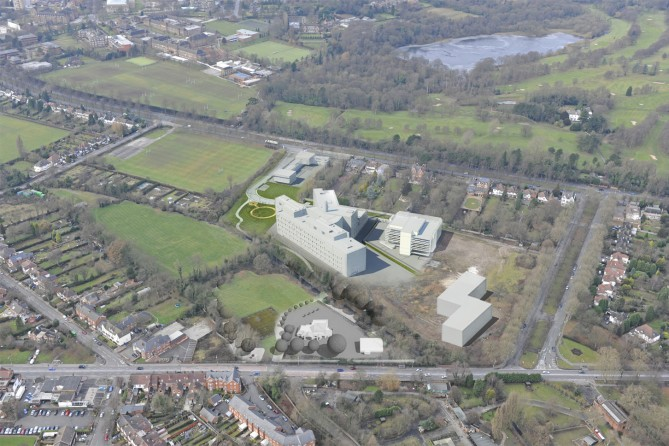 Pebble Mill Aerial Montage