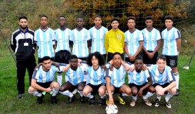 Lordswood Academies Trust's football team in their new kit sponsored by Calthorpe Estates