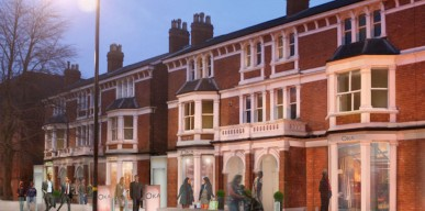 Artist Impression of 20-22 Harborne Road in Edgbaston Village