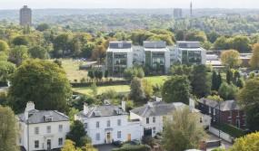 View over Edgbaston, Birmingham, England