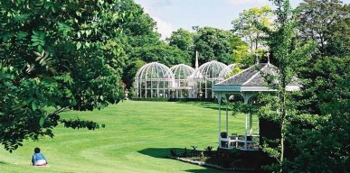 lawn aviary  bandstand